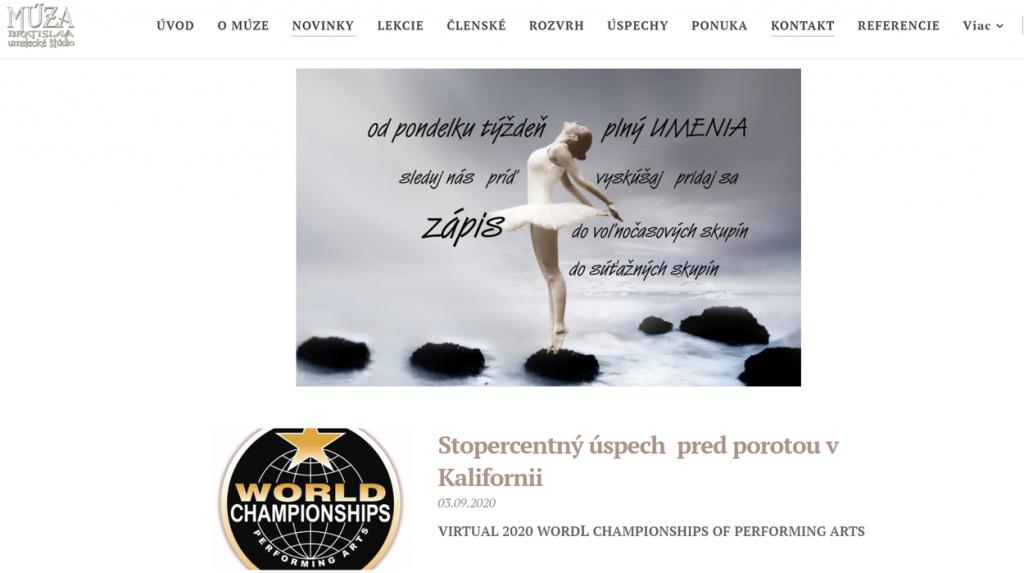 MÚZA Bratislava má novú webovú stránku