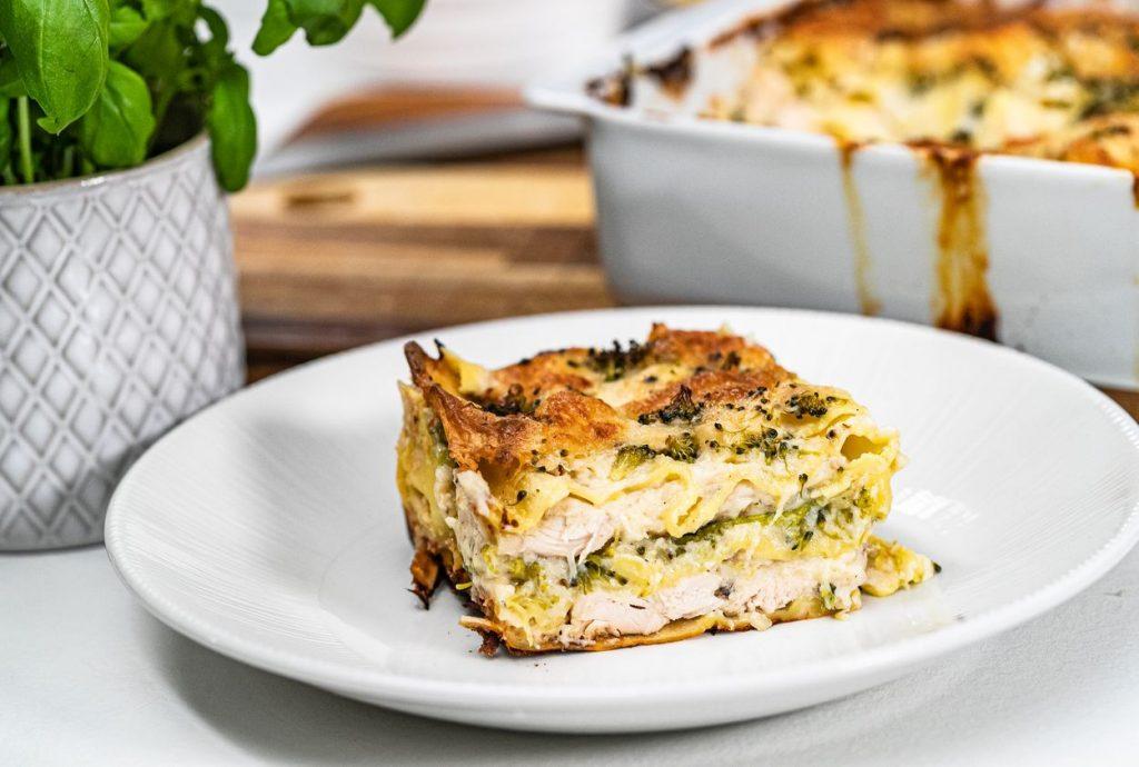 Chuť Talianska: Lasagne s kuracím mäsom a divokou brokolicou