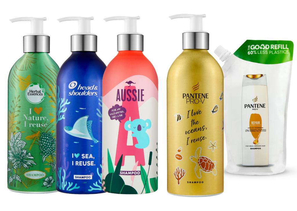 Head & Shoulders, Pantene, Herbal Essences a Aussie predstavujú inovatívne trvalo udržateľné balenie!